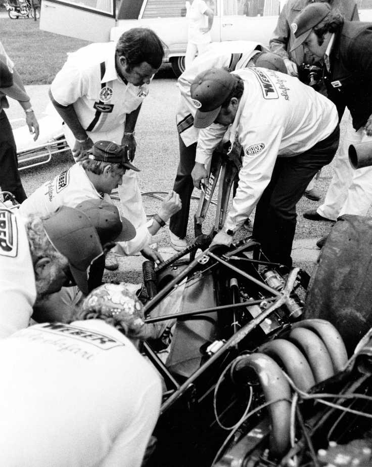 "The Jaws of Life ""in action"" at an NHRA race event circa 1971-72"